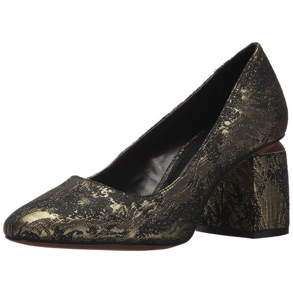 kensie Womens LUCAS Fabric Square Toe Classic Pumps