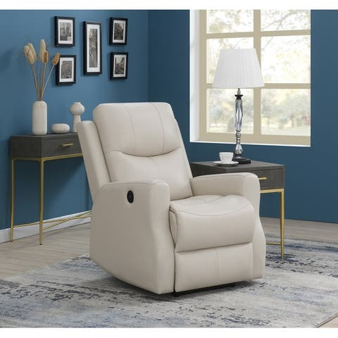 Upholstered Power Recliner with USB Port