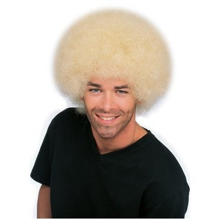 Big Blonde Afro Wig Adult Costume Accessory
