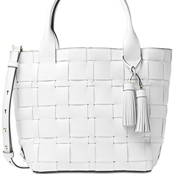 8fdf6178643c Shop MICHAEL KORS Vivian Medium Tote - Optic White - Free Shipping Today -  Overstock - 23068035