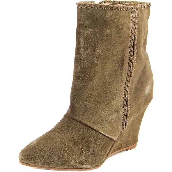Charles By Charles David Naya Women Pointed Toe Suede Brown Ankle Boot