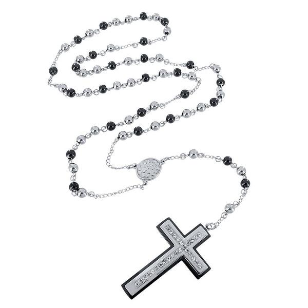 Mens Designer Rosary Cross Pendant Lab Diamonds On Sale