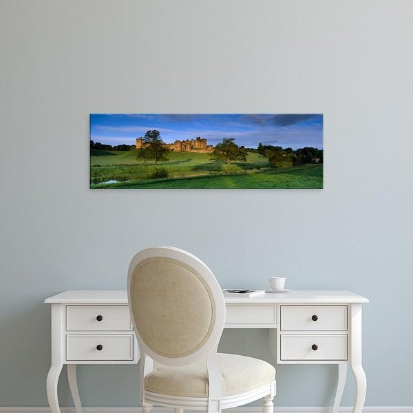 Easy Art Prints Panoramic Images's 'Castle, Alnwick Castle, Northumberland, England, United Kingdom' Premium Canvas Art