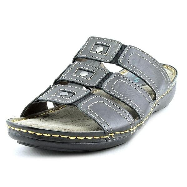 Montana Topaz Women Open Toe Leather Slides Sandal