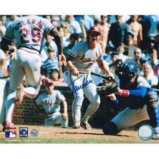Autographed Tommy Herr St. Louis Cardinals 8x10 Photo