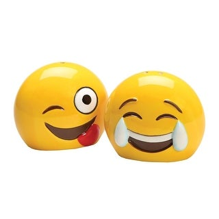 Emojicon Serveware - Emoji Ceramic Salt and Pepper Shakers