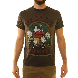 Peanuts It's All Good In The Hood  Men's Brown T-shirt