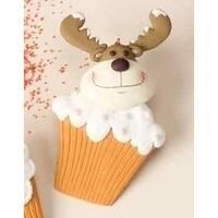 Sweet Memories Reindeer Cupcake Christmas Ornament - multi