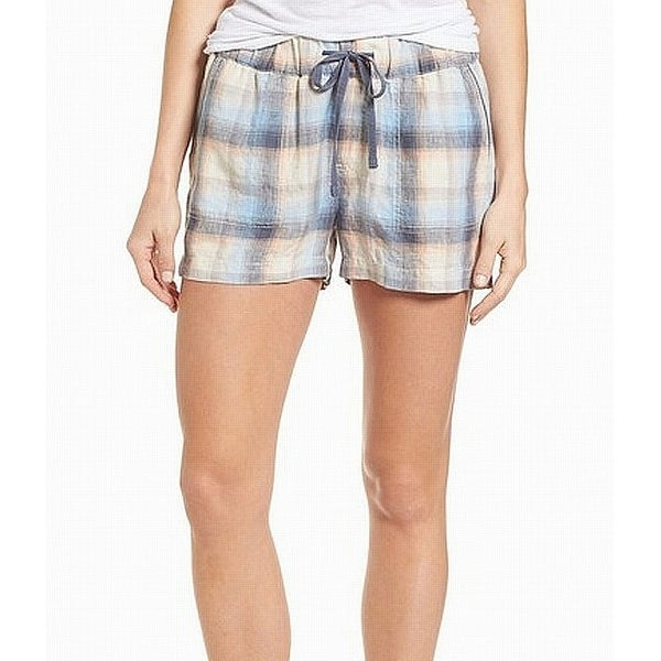 69d277ea0 Shop Caslon Blue Women's Small S Plaid Drawstring Casual Linen Shorts -  Free Shipping On Orders Over $45 - Overstock - 27637528