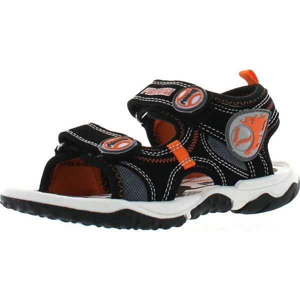 Primigi Boys Beach Sand 5 Play Ball Water Friendly Sport Sandals - Black/Orange