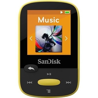 Sandisk SDMX24-004G-A46Y Clip Sport MP3 Player - Yellow