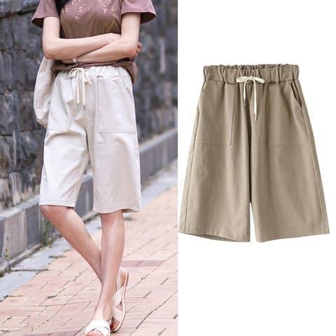 Women's Summer Casual Cotton Shorts Straight Xl