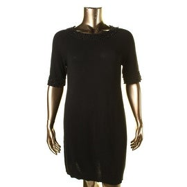 Private Label Womens Cashmere Beaded Sweaterdress - XL