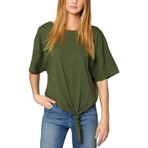 Sanctuary Womens Echo Park T-Shirt Slub Side Tie