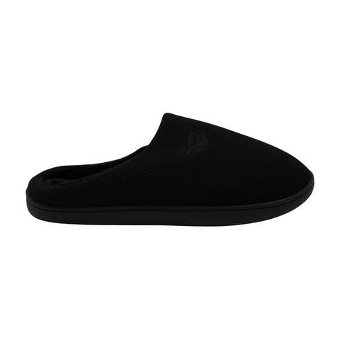 Mothernest Men's Memory Foam Slippers Comfortable Knit Cotton Blend Closed Toe Non-Slip Indoor and Outdoor House Shoes Black, 13