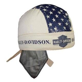 Harley-Davidson Men's Liberty Headwrap, Sweatband & Mesh, Khaki HW123256