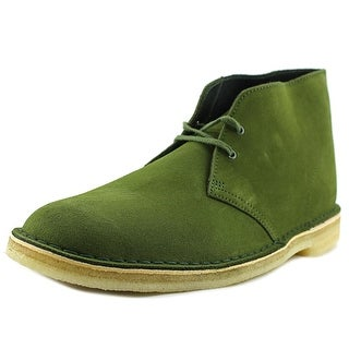 Clarks Originals Desert Boot Men  Round Toe Suede Green Desert Boot
