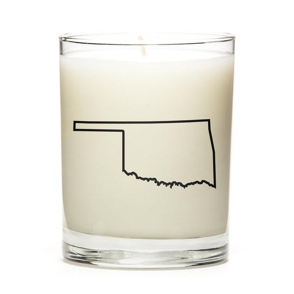 Custom Candles with the Map Outline Oklahoma, Lemon