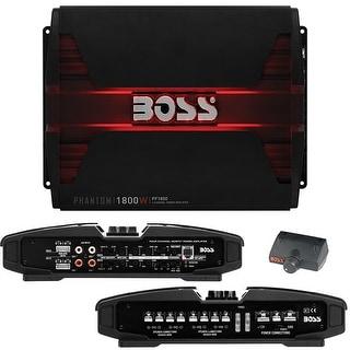 Boss PHANTOM 1800 Watts 4 Channel Power Amplifier Remote Subwoofer Level Control