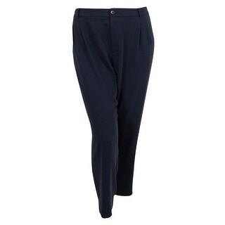 Ralph Lauren Women's Pleated Pants - Blue - 22W