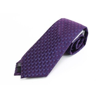 Calvin Klein NEW Purple Steps Geometric Men's Neck Tie Silk Accessory
