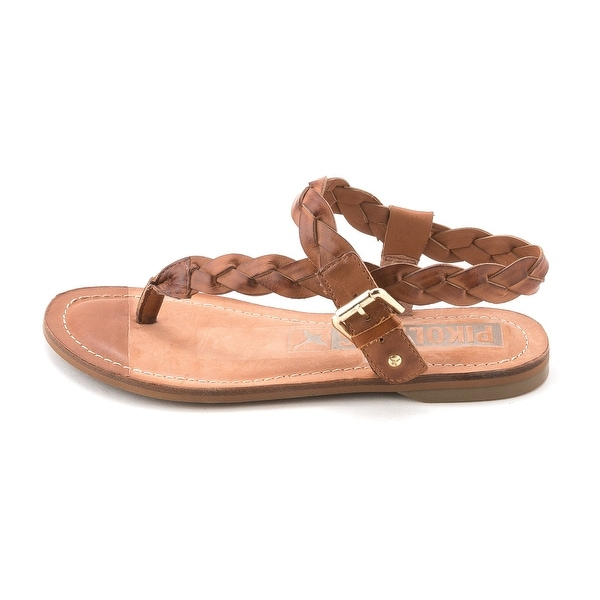 Pikolinos Womens W7B-0552 Leather Split Toe Casual T-Strap Sandals