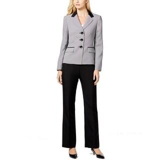 Le Suit NEW Black White Women's Size 8 Houndstooth Pant Suit Set