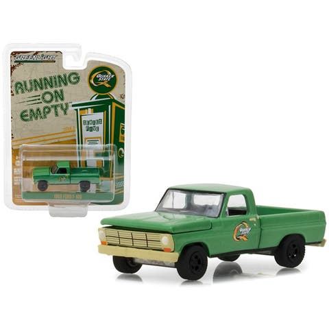 1969 Ford F-100 Pickup Truck Quaker State Green Running on Empty Series 5 1/64 Diecast Model Car by Greenlight