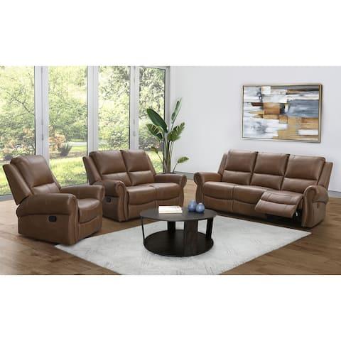 Abbyson Winston Manual Reclining Sofa Set