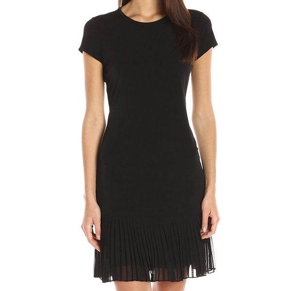 aeaca2c0148a1 Shop Calvin Klein NEW Black Womens Size 12 Pleated Bottom Sheath Dress -  Free Shipping On Orders Over $45 - Overstock - 18349132