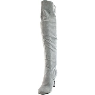 Charles By Charles David Lyssa Women Round Toe Synthetic Gray Knee High Boot