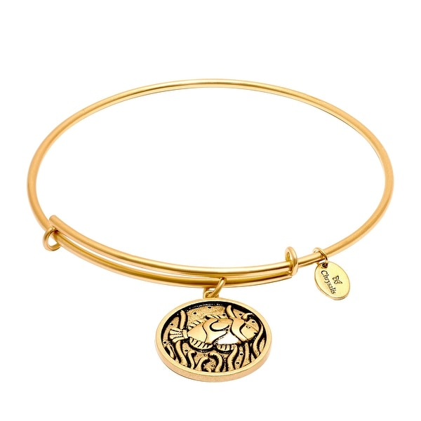 Chrysalis Expandable Fish Bangle Bracelet in 14K Gold-Plated Brass - YELLOW
