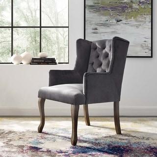 Link to Porch & Den Thornton Vintage Velvet Dining Armchair Similar Items in Dining Room & Bar Furniture