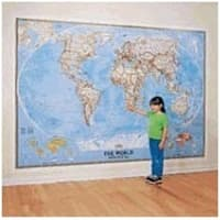 National Geographic RE00622007 World Classic - Mural Map