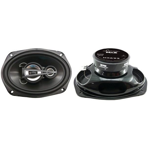 """LANZAR MX693 MAX Series 3-Way Triaxial Speakers (6"""" x 9"""", 600 Watts)"""