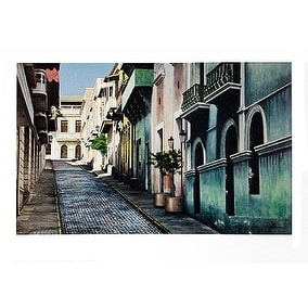 ''O'Donell Street, Old San Juan'' by Roger Vilarchao Architecture Art Print (27 x 38 in.)