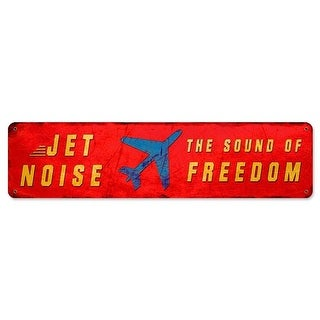 Jet Noise Sound of Freedom Triptych Stain Metal Sign - 20 x 5 in.