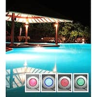 AGPtek 252 LED Underwater Swimming Pool Light Fountains Lamp Pond Light RGB 5 Colour with Remote Control