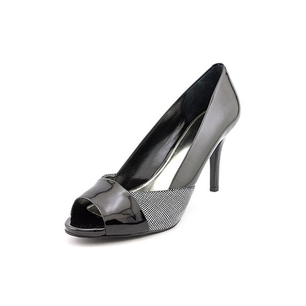 Alfani Womens Bette Peep Toe Casual Slide Sandals