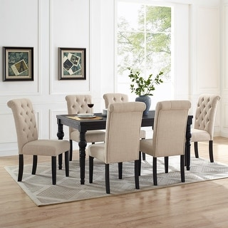 Link to Leviton Wood Dark Wash Turned-Leg 7 piece Dining Set Similar Items in Dining Room & Bar Furniture