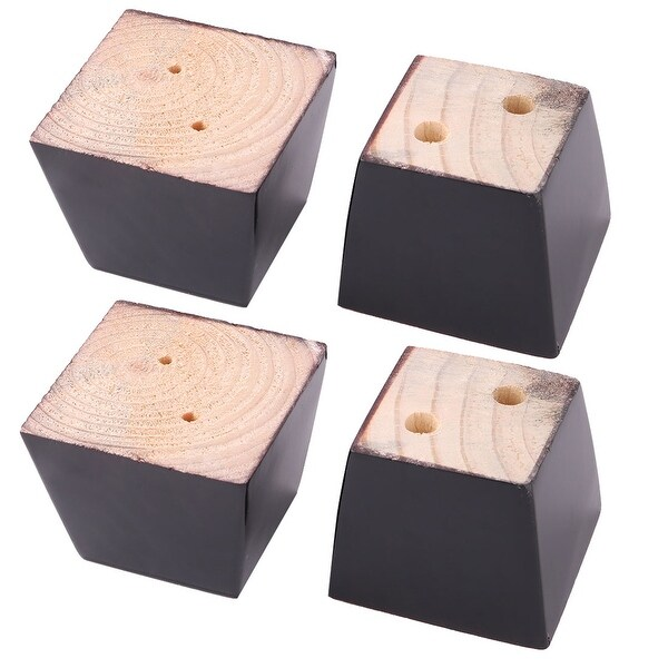 School Wooden Furniture Cabinet Chair Couch Sofa Leg Feet Replacement Black 4pcs