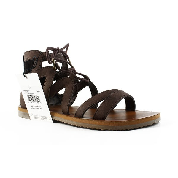 ce8ce791d2b9 Shop Volcom Womens W0831703 Brown Ankle Strap Sandals Size 6 - On ...