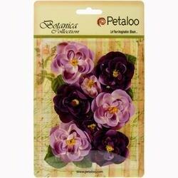 """Lavender/Purple - Botanica Ranunculus Flowers 1"""" To 1.75"""" 8/Pkg"""