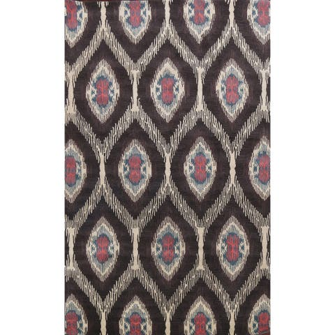 """Contemporary Oriental Wool Area Rug Hand-tufted Living Room Carpet - 9'0"""" x 12'0"""""""