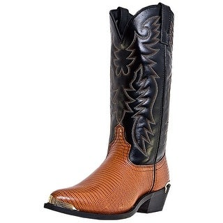 Laredo Western Boots Mens Cowboy Atlanta Faux Lizard Brown 68086