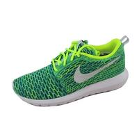 Nike Women's Roshe NM Flyknit QS Volt/Metallic Silver-Voltage Green-Photo Blue nan 846200-700