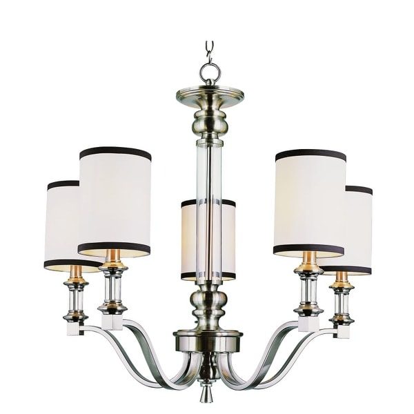 Trans Globe Lighting 7975 Five Light Chandelier from the Modern Meets Traditional Collection - Brushed nickel