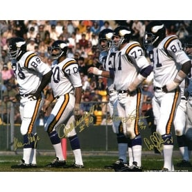 size 40 5b04d 7cce4 Purple People Eaters signed Minnesota Vikings 16x20 Photo (white  jersey-gold sig) w/ 4 sigs- PPE Hol