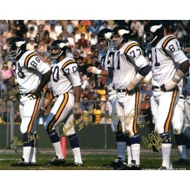 size 40 2b00e cfd0b Purple People Eaters signed Minnesota Vikings 16x20 Photo (white  jersey-gold sig) w/ 4 sigs- PPE Hol