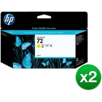 HP 72 130-ml Yellow DesignJet Ink Cartridge (C9373A) (2-Pack)